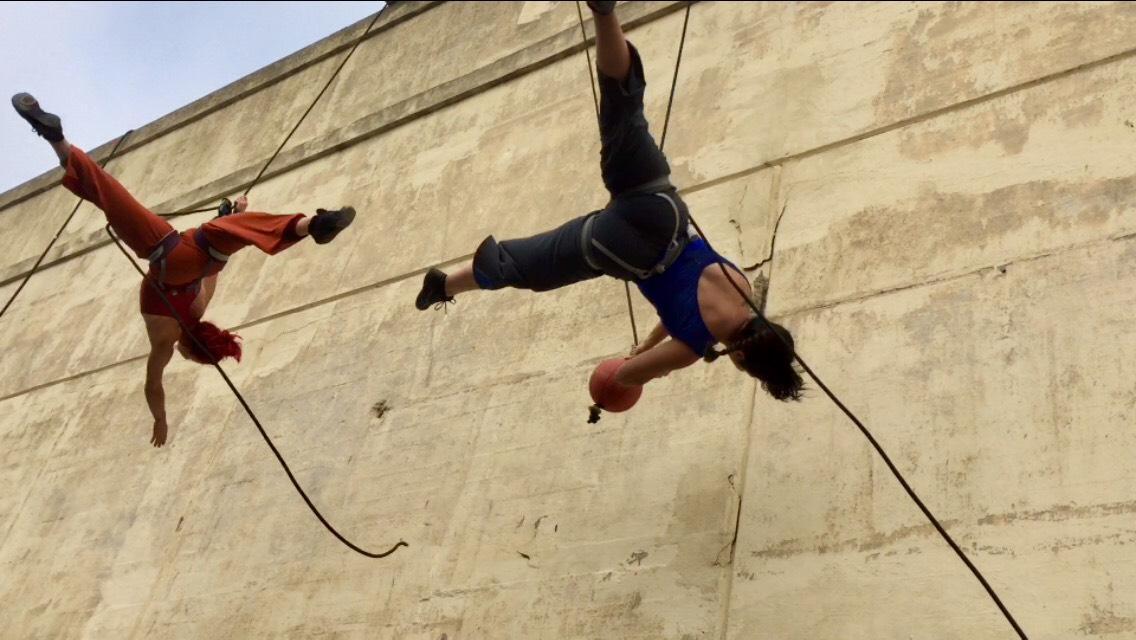 Sonsherée Giles and Megan Lowe - Wall Ball - Flyaway