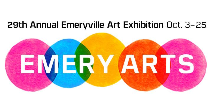 Logo for the 29th Annual Emeryville Art Exhibition, going on from October 3-October 25th.